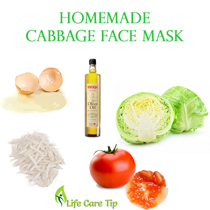 homemade cabbage face mask