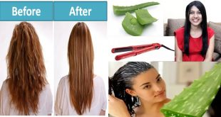 Home Remedy to Straight Your Hair Naturally with Aloe Vera Gel