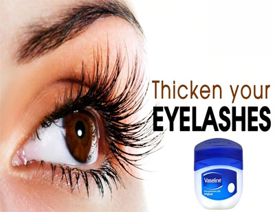 how to grow eyelashes with vaseline