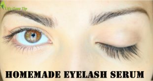 homemade eyelash serum