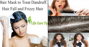 treat dandruff, hair fall and frizzy hair