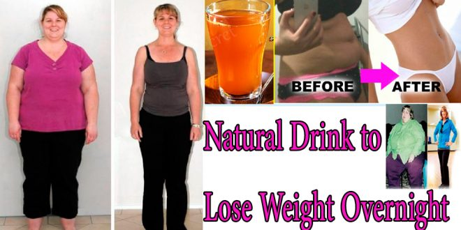 Natural Drink before Bedtime That's Helps to Lose Weight Overnight