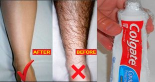 how to remove unwanted hair with toothpaste